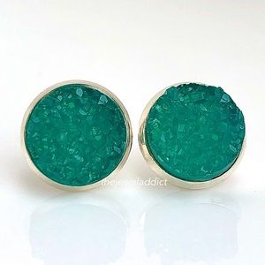 3 for $15🎀milky turquoise faux druzy studs